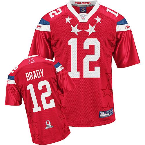 Patriots #12 Tom Brady 2011 Red Pro Bowl Stitched NFL Jersey