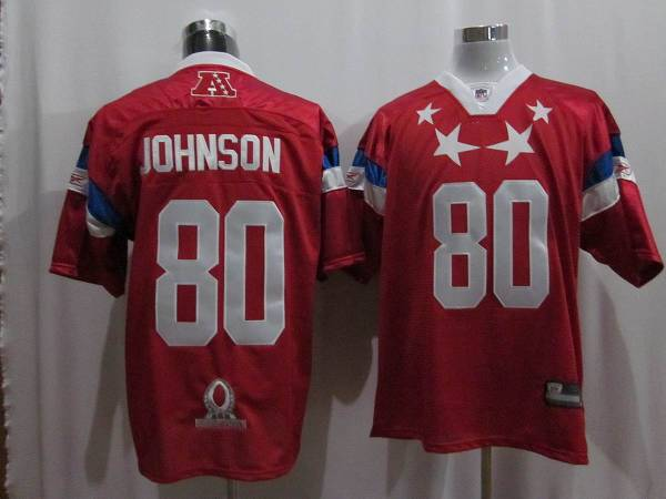 Texans #80 Andre Johnson 2011 Red Pro Bowl Stitched NFL Jersey