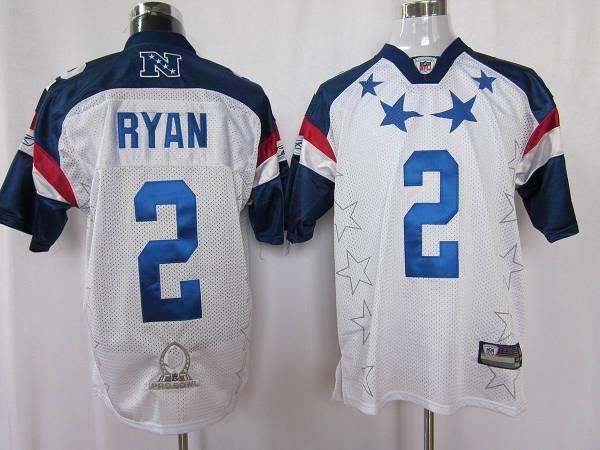 Falcons #2 Matt Ryan 2011 White and Blue Pro Bowl Stitched NFL Jersey