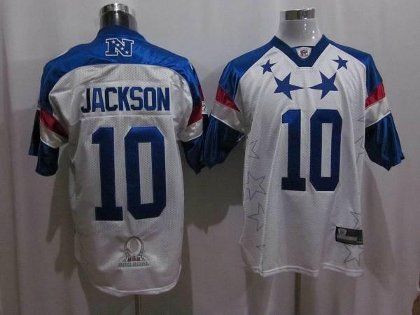 Eagles #10 DeSean Jackson 2011 White and Blue Pro Bowl Stitched NFL Jersey