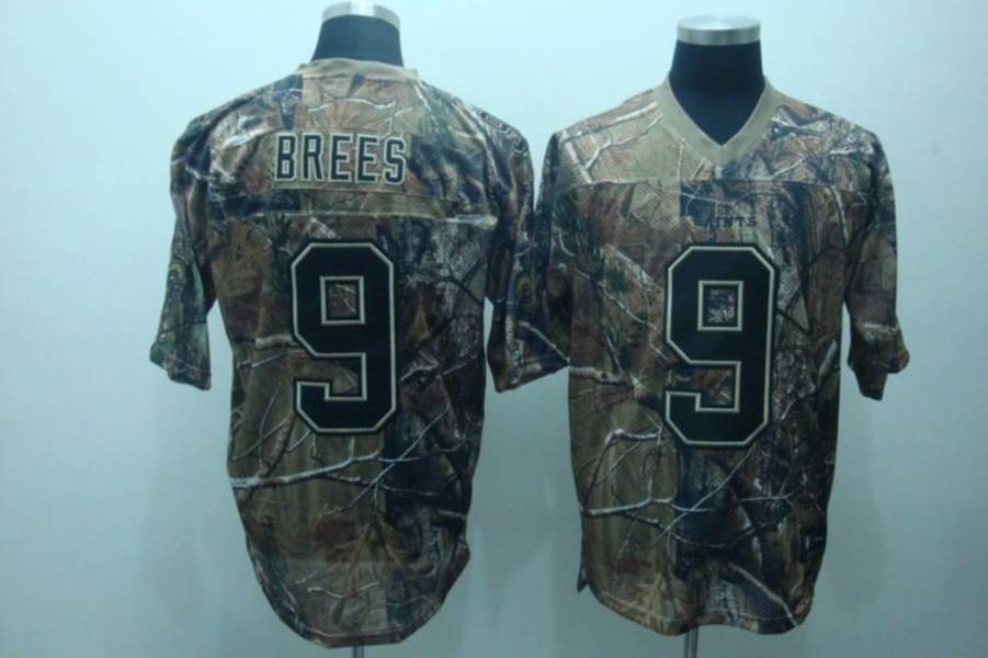 Saints #9 Drew Brees Camouflage Realtree Embroidered NFL Jersey