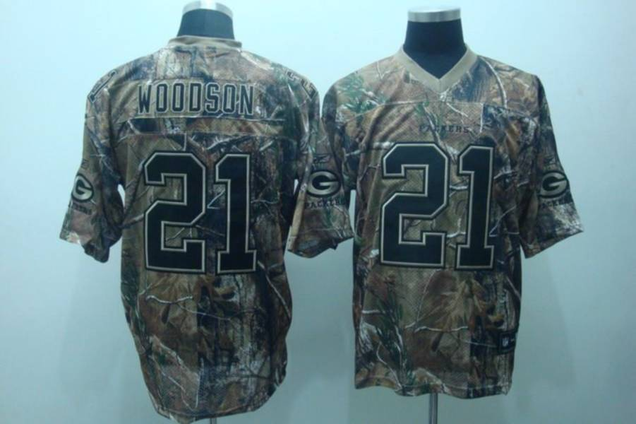 Packers #21 Charles Woodson Camouflage Realtree Embroidered NFL Jersey