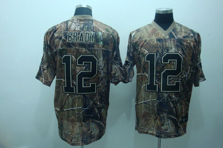 Patriots #12 Tom Brady Camouflage Realtree Embroidered NFL Jersey