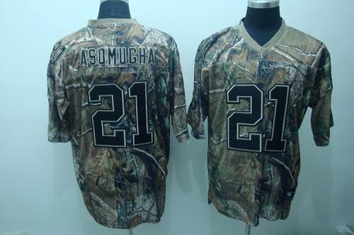 Raiders #21 Nnamdi Asomugha Camouflage Realtree Embroidered NFL Jersey