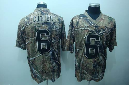 Bears #6 Jay Cutler Camouflage Realtree Embroidered NFL Jersey