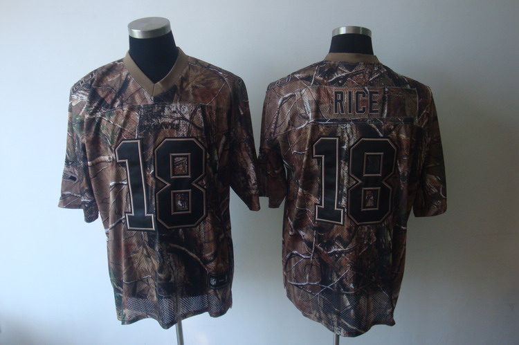 Seahawks #18 Sidney Rice Camouflage Realtree Embroidered NFL Jersey