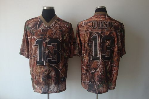 Bills #13 Steve Johnson Camouflage Realtree Embroidered NFL Jersey