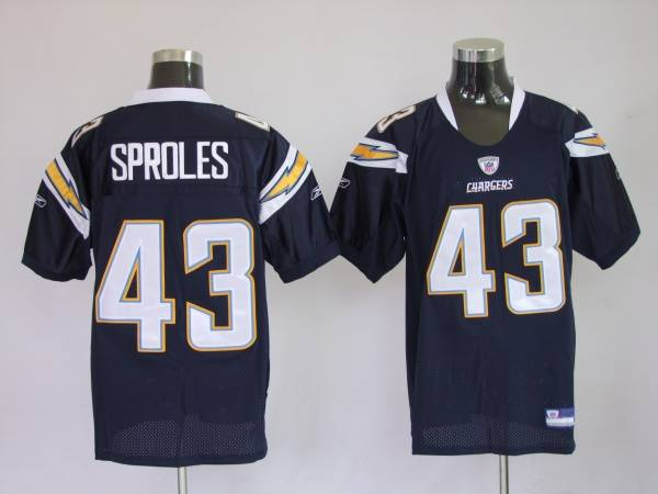 Chargers Darren Sproles #43 Stitched Dark Blue NFL Jersey