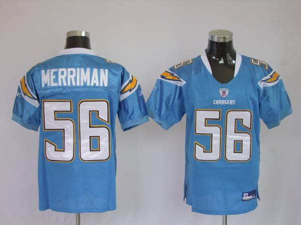 Chargers Shawne Merriman #56 Stitched Baby Blue NFL Jersey