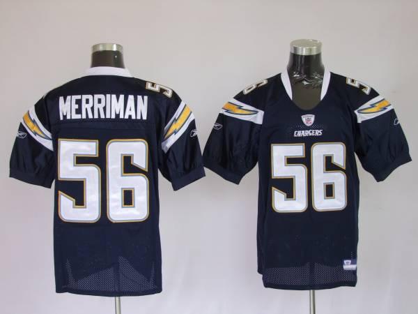 Chargers Shawne Merriman #56 Stitched Dark Blue NFL Jersey