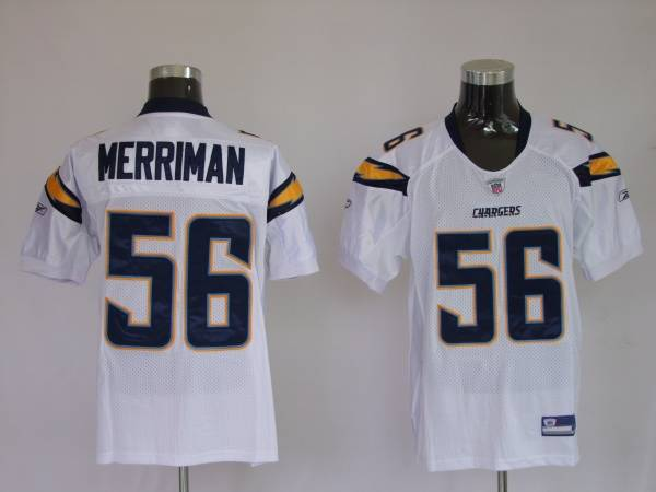 Chargers Shawne Merriman #56 Stitched White NFL Jersey