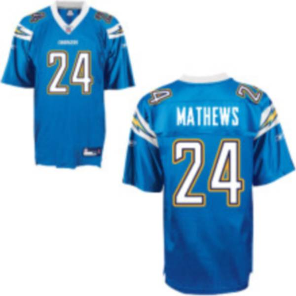 Chargers Ryan Mathews #24 Stitched Baby Blue NFL Jersey