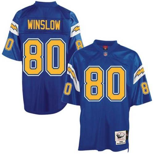 Mitchell And Ness Chargers #80 Kellen Winslow Blue Throwback Stitched NFL Jersey