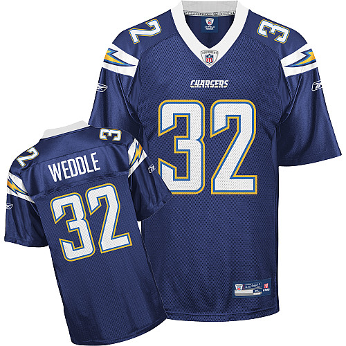 Chargers #32 Eric Weddle Navy Blue Stitched NFL Jersey
