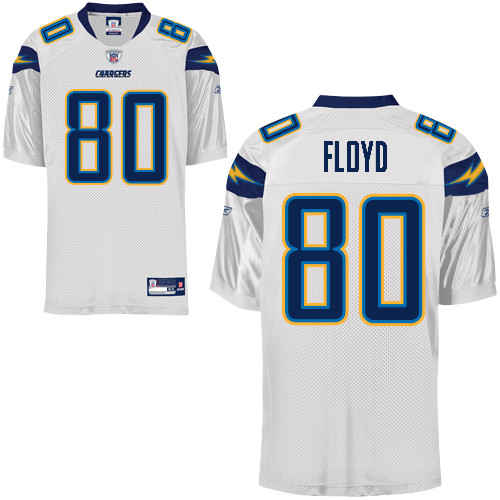 Chargers #80 Malcom Floyd White Stitched NFL Jersey