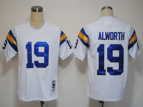Mitchell And Ness 1984 Chargers #19 Lance Alworth White Stitched NFL Jersey