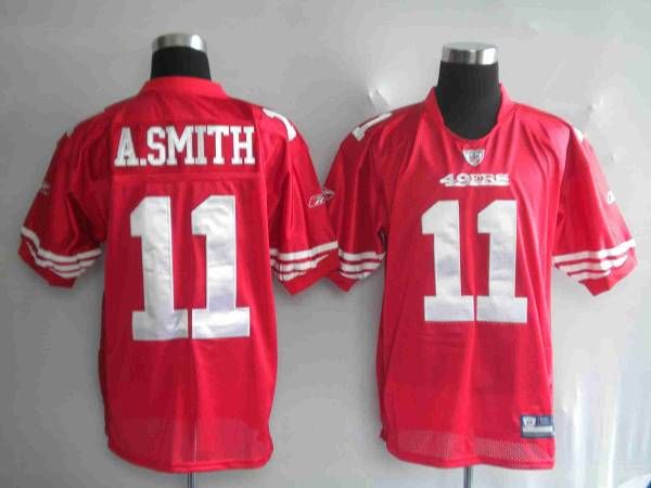 49ers Alex Smith #11 Stitched Red NFL Jersey