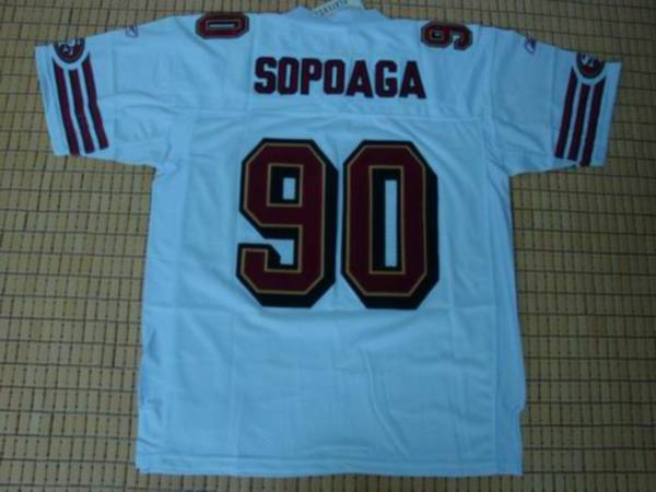 49ers Isaac Sopoaga #90 Stitched White NFL Jersey