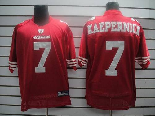 49ers #7 Colin Kaepernick Red Stitched NFL Jersey