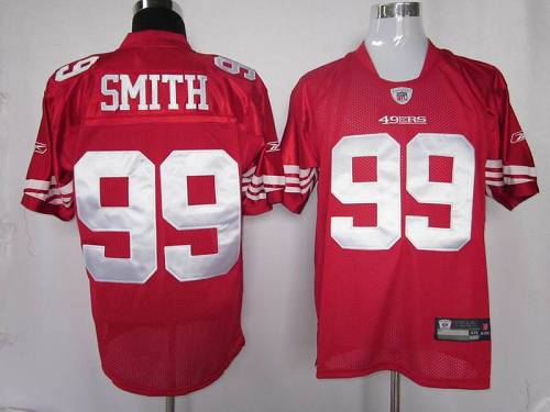 49ers #99 Aldon Smith Red Stitched NFL Jersey