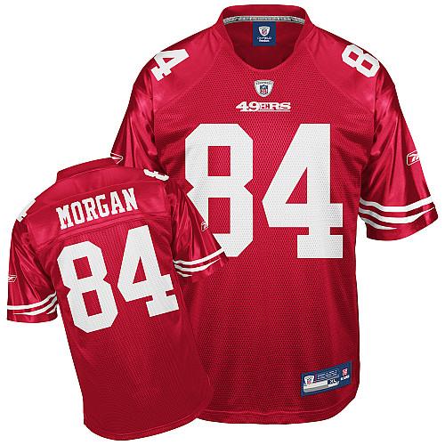 49ers #84 Josh Morgan Red Stitched NFL Jersey