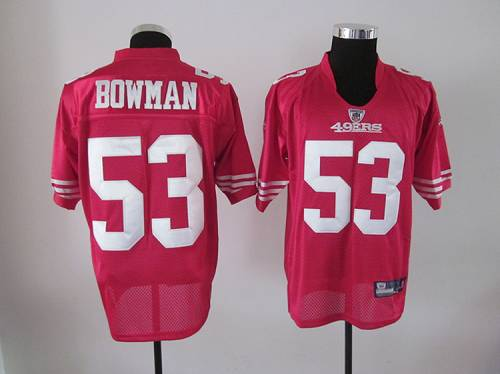 49ers #53 NaVorro Bowman Red Stitched NFL Jersey