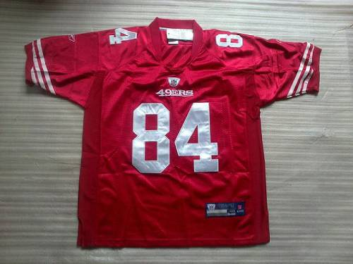 49ers #84 Randy Moss Red Stitched NFL Jersey