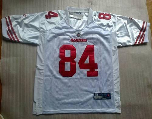 49ers #84 Randy Moss White Stitched NFL Jersey