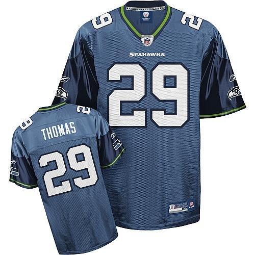 Seahawks #29 Earl Thomas Blue Stitched NFL Jersey