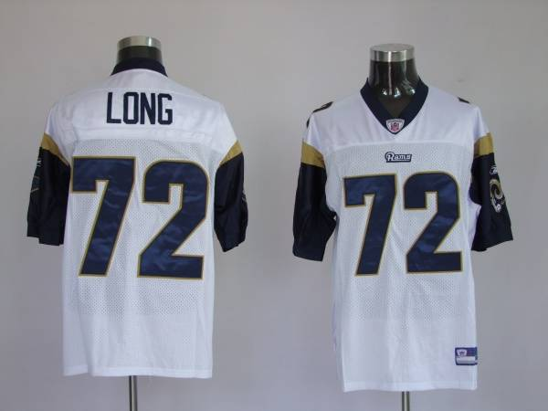 Rams #72 New Player Chris Long Stitched White NFL Jersey