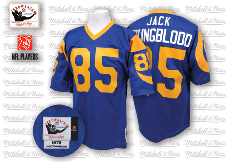 Mitchell And Ness 1979 Rams #85 Jack Youngblood Blue Throwback Stitched NFL Jersey