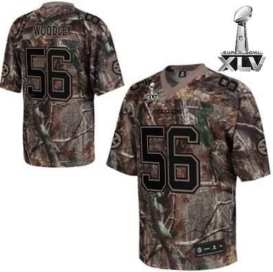 Steelers #56 LaMarr Woodley Camouflage Realtree Super Bowl XLV Stitched NFL Jersey