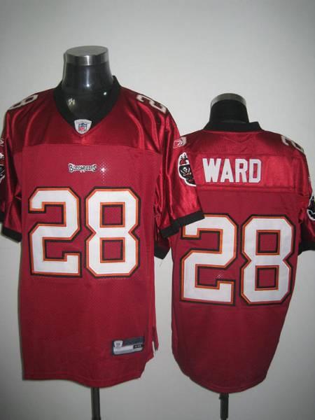 Buccaneers #28 Derrick Ward Stitched Red NFL Jersey