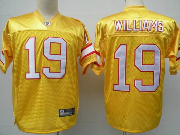 Buccaneers #19 Mike Williams Yellow Stitched NFL Jersey