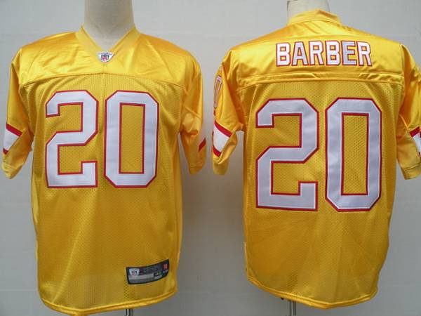 Buccaneers #20 Ronde Barber Yellow Stitched NFL Jersey