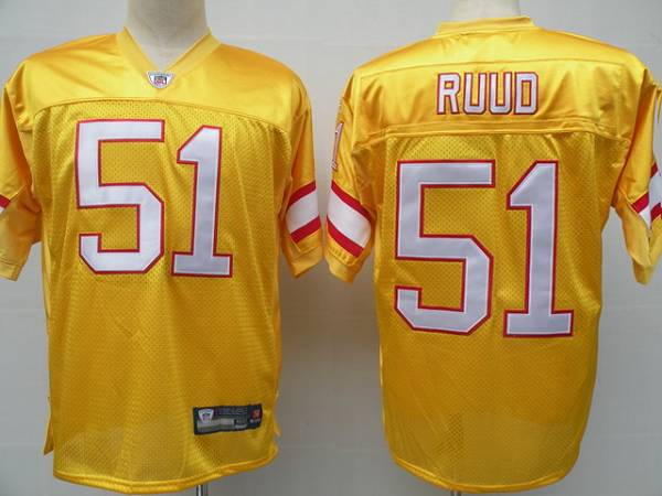 Buccaneers #51 Barrett Ruud Yellow Stitched NFL Jersey