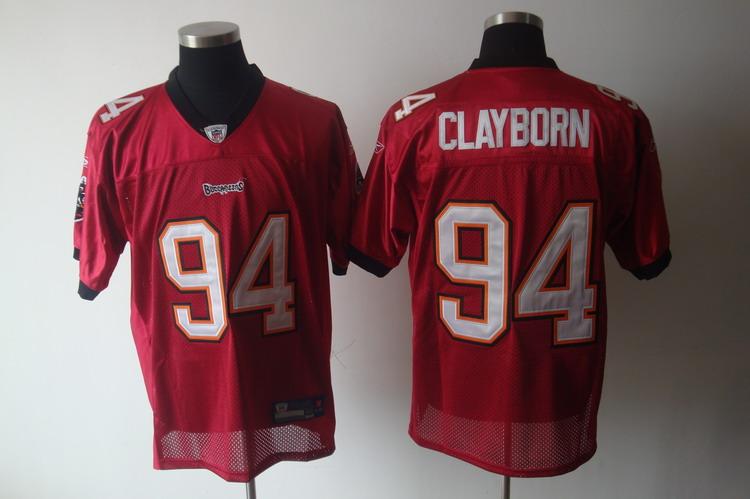 Buccaneers #94 Adrian Clayborn Red Stitched NFL Jersey