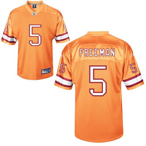 Buccaneers #5 Josh Freeman Yellow Stitched NFL Jersey