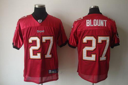 Buccaneers #27 LeGarrette Blount Red Stitched NFL Jersey