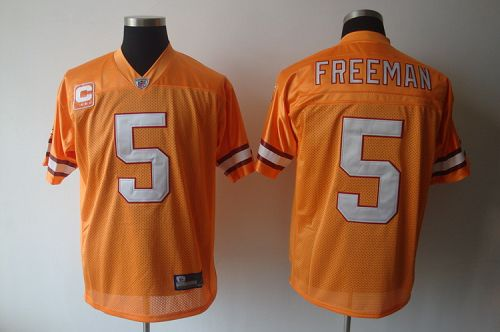 Buccaneers #5 Josh Freeman Yellow With C Patch Stitched NFL Jersey