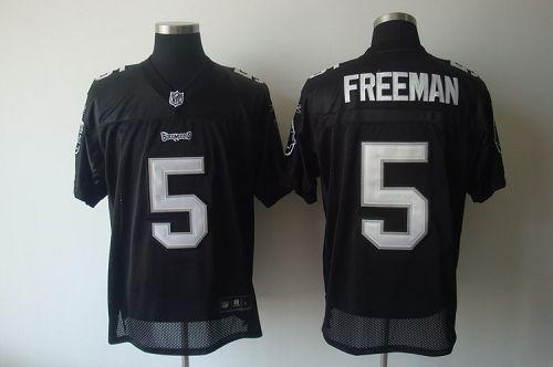 Buccaneers #5 Josh Freeman Black Shadow Stitched NFL Jersey