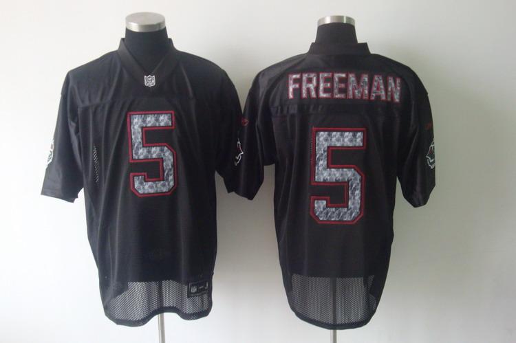 Sideline Black United Buccaneers #5 Josh Freeman Black Stitched NFL Jersey