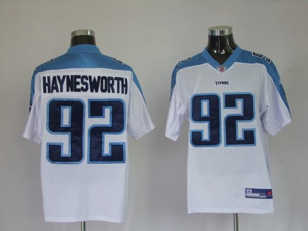 Titans #92 Albert Haynesworth White Stitched Jersey