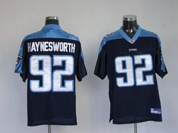 Titans #92 Albert Haynesworth Dark Blue Stitched Jersey