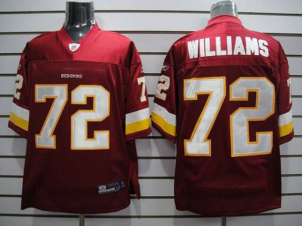 Redskins #72 Doug Williams Stitched Red NFL Jersey