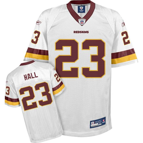 Redskins #23 DeAngelo Hall White Stitched NFL Jersey