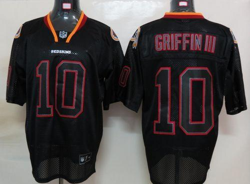 Redskins #10 Robert Griffin III Lights Out Black Stitched NFL Jersey