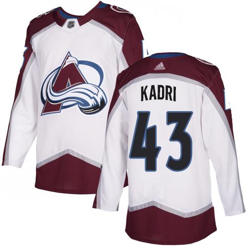 Adidas Avalanche #43 Nazem Kadri White Road Authentic Stitched NHL Jersey