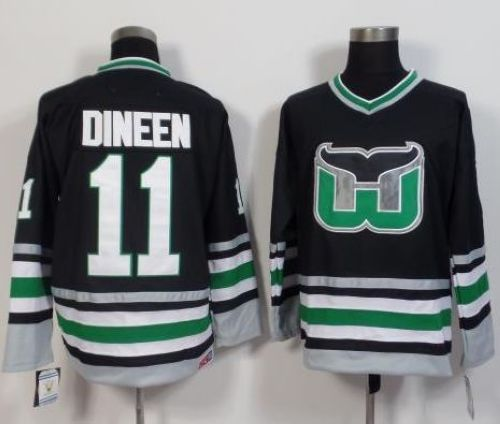 Whalers #11 Kevin Dineen Black CCM Throwback Stitched NHL Jersey