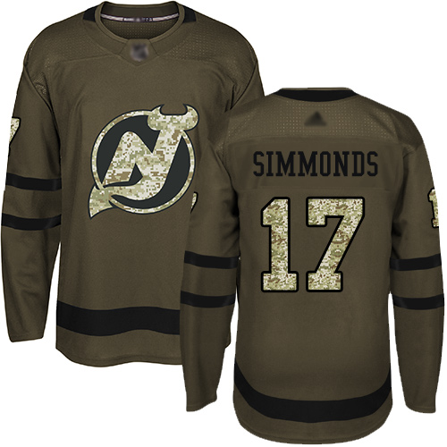 Adidas Devils #17 Wayne Simmonds Green Salute to Service Stitched NHL Jersey